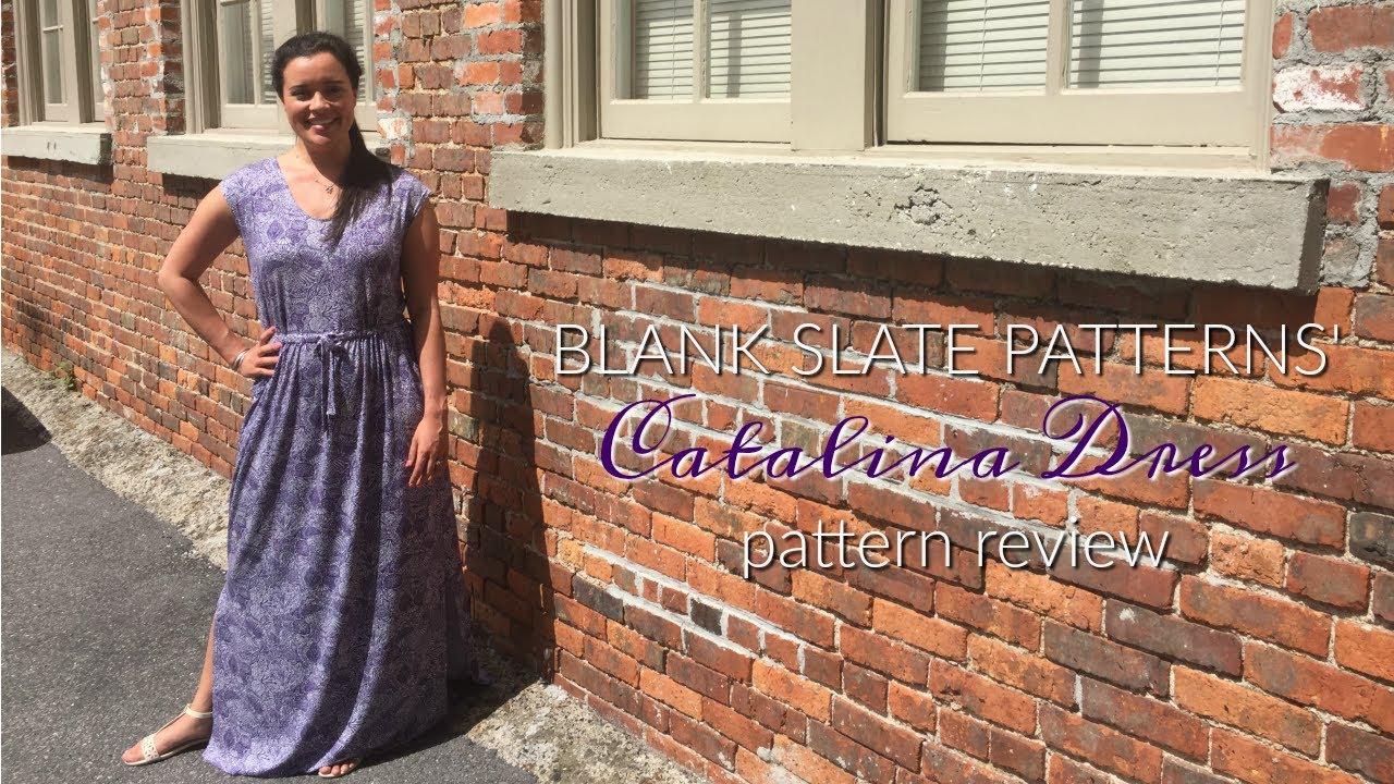 Catalina Dress by Blank Slate Patterns sewn by Lindsey of Inside The Hem using Liberty of London knit