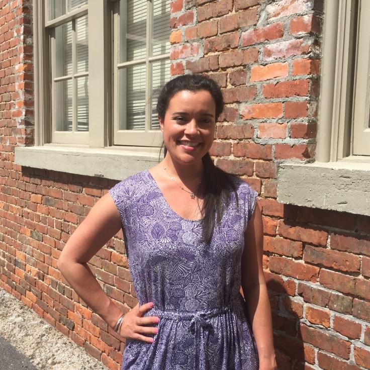 Catalina Dress by Blank Slate Patterns sewn by Lindsey of Inside The Hem using Liberty of London knit fabric