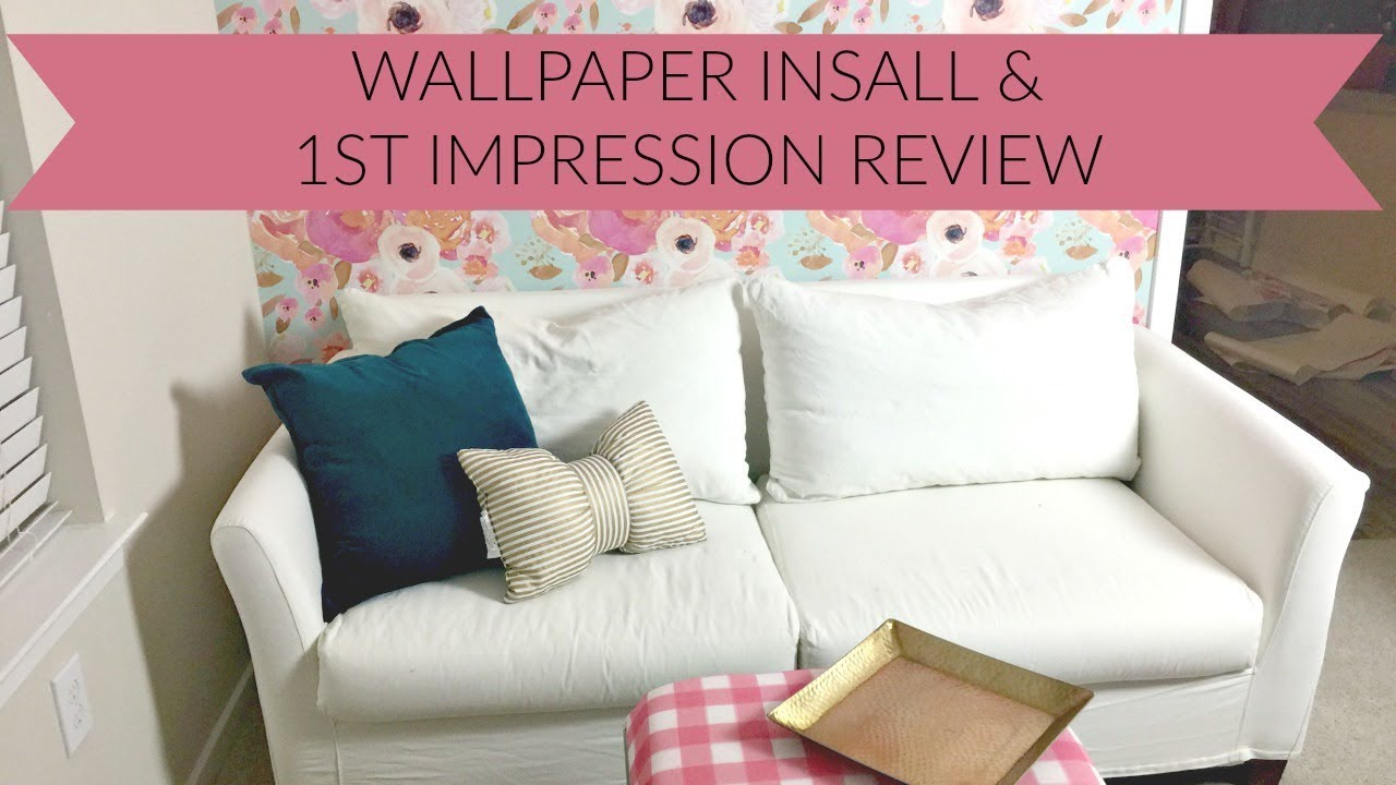 Inside the Hem Spoonflower wallpaper install diy and first impression review