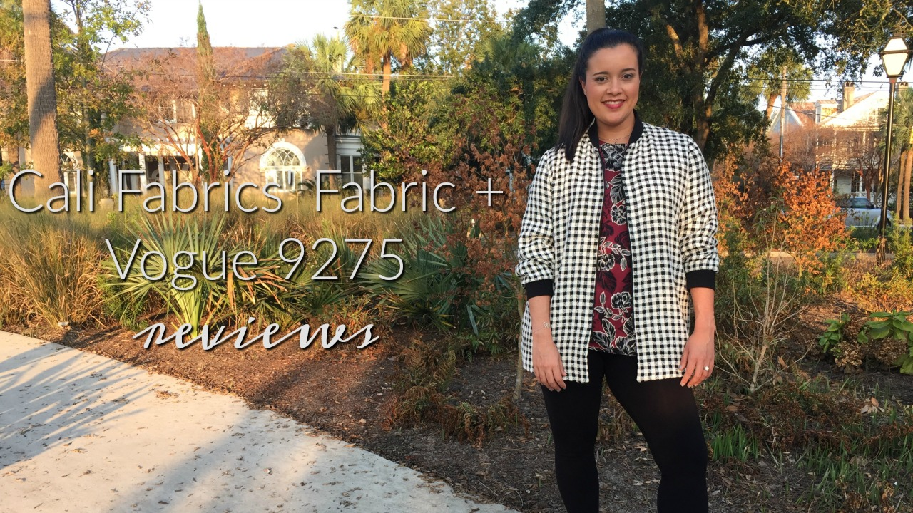 Vogue 9275 sewn with Cali Fabrics pattern review sewn by Lindsey of Inside the Hem